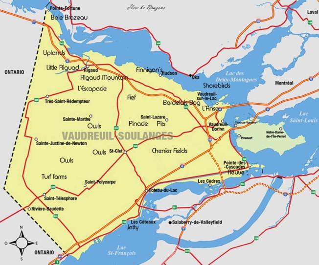 Vaudreuil-Dorian map